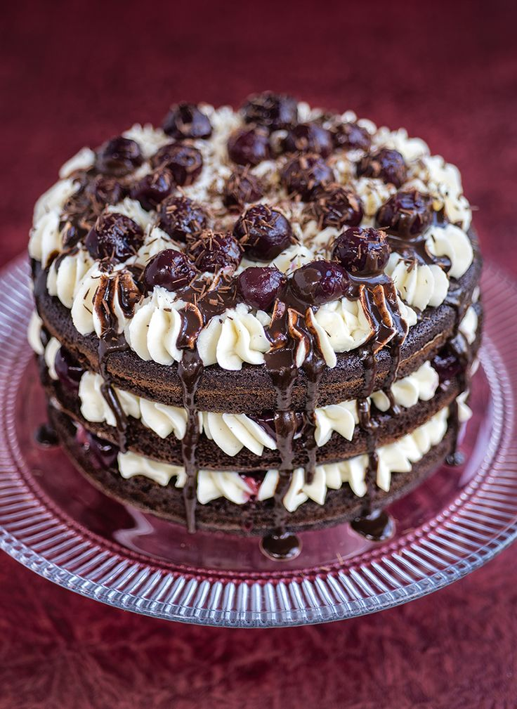 Black Forest Cake with Mascarpone Frosting