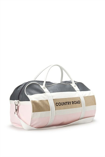 Country Road Bold Metallic Stripe Logo Tote