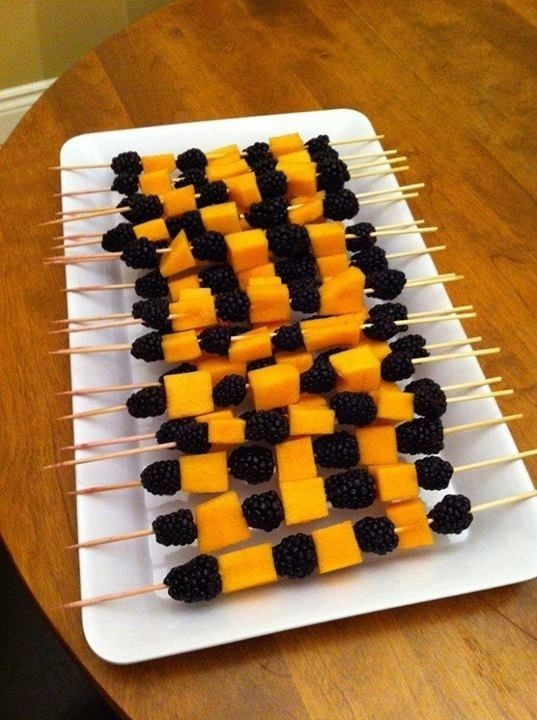 healthy halloween party food treats cheddar cheese cubes and either black olives or blackberries find this pin and more on healthy halloween ideas - Quick And Easy Halloween Treats For Kids To Make