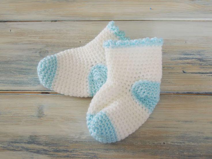 Happy Berry Crochet: How To Crochet Baby Socks