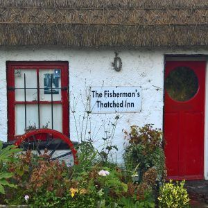 The Fisherman's Thatched Inn, County Laois, Ireland. Delightful thatched pub in rural Ireland.