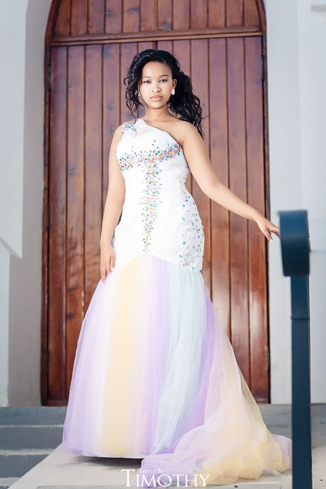 White evening prom dress Besters' Bridal Boutique www.bestersbridalboutique.com Email: info@bestersbridal.co.za