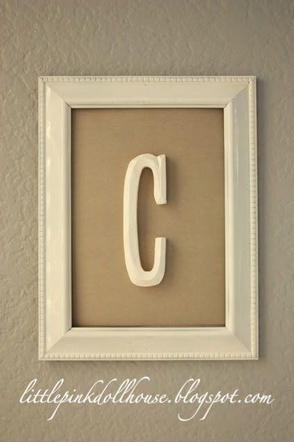 25 Best Ideas About Framed Initials On Pinterest Framed