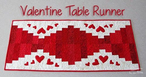 Valentine 39 s day free quilt tutorials and patterns free for Diy valentine table runner