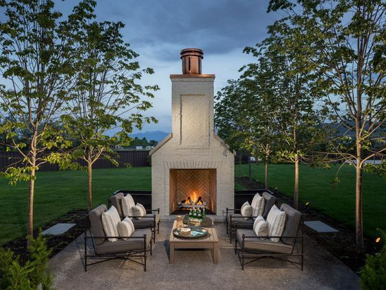ideas about Outdoor Fireplace Patio on Pinterest