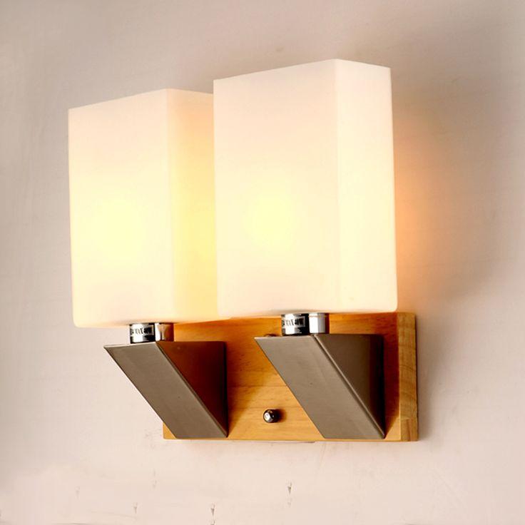 pas cher simple tatami japonais mur en bois lampe pour chambre applique murale en verre applique - Applique Murale Design Bois