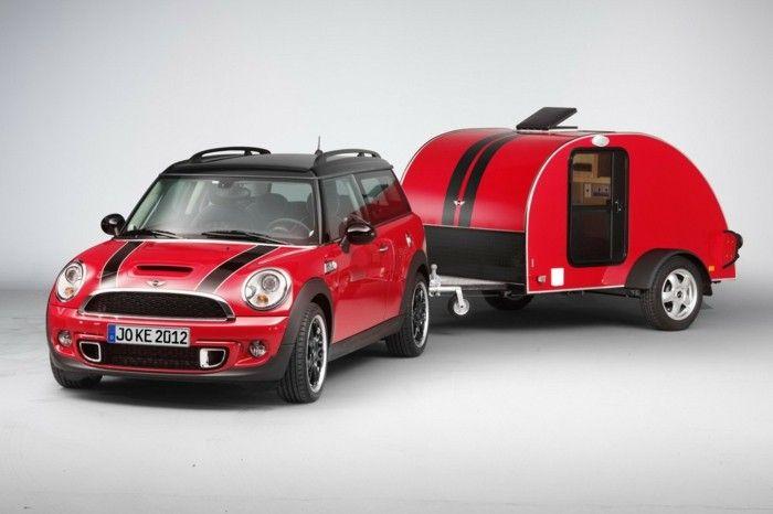 mini wohnwagen in rot