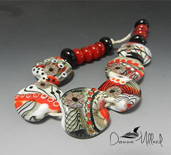 ARTISAN LAMWPWORK Beads Artisan Beads Handmade Lampwork Beads