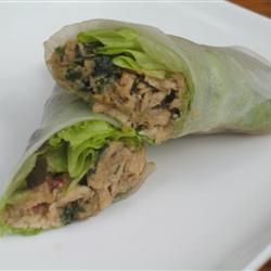 Lemon Grass and Chicken Summer Rolls - need to Epicure these