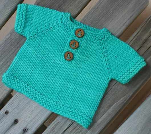 Easy baby sweater..# free #knitting pattern link here