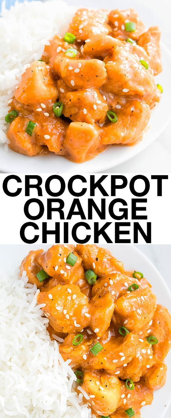 (42) This easy SLOW COOKER ORANGE CHICKEN recipe with sweet and sour flavors is best served with rice or noodles. This crockpot orange chicken requires… | Pinterest