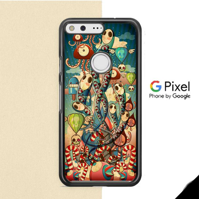 Mural Windows Gurita Google Pixel Case