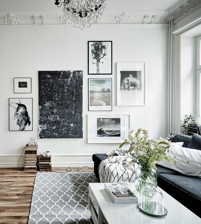 Un sofisticado apartamento escandinavo de aire varonil