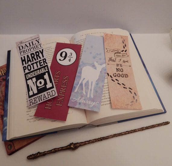 INSTANT DOWNLOAD | Harry Potter Inspired Bookmarks