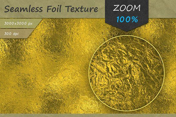 Golden Foil Seamless HD Texture by Marabu Textures Store on @creativemarket