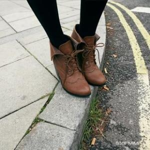 oxford booties: Heeled Boots, Shoes, Lace Heeled, Oxford Boots, Oxford Bootie, Style, Carved Lace, Oxfords, Oxford Carved