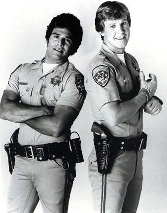 Eric Estrada and Larry Wilcox, CHiPs