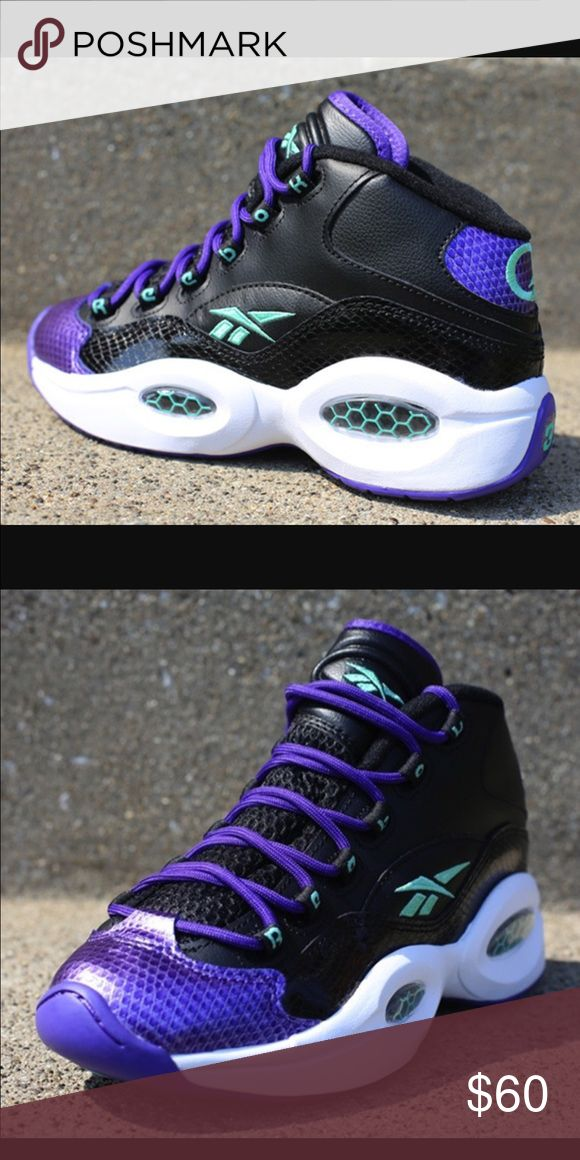 "Reebok ""Snake"" Allen Iverson  Size 5.5 Beautiful like , Reebok ""Snake"" Allen Iverson sneakers. Size 5.5 excellent Condition. Emerald Green/Black/Purple. Make this ☝️treasure yours today ☺️. Don't be scared to make an offer, you never know unless you try. Bundle multiple items for the best savings. Pay one low price for shipping !   Thanks for stepping into Coco's Closet  Reebok Shoes Sneakers"