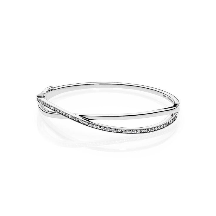 Entwined, Clear CZ - 590533CZ Pandora jewelry $125