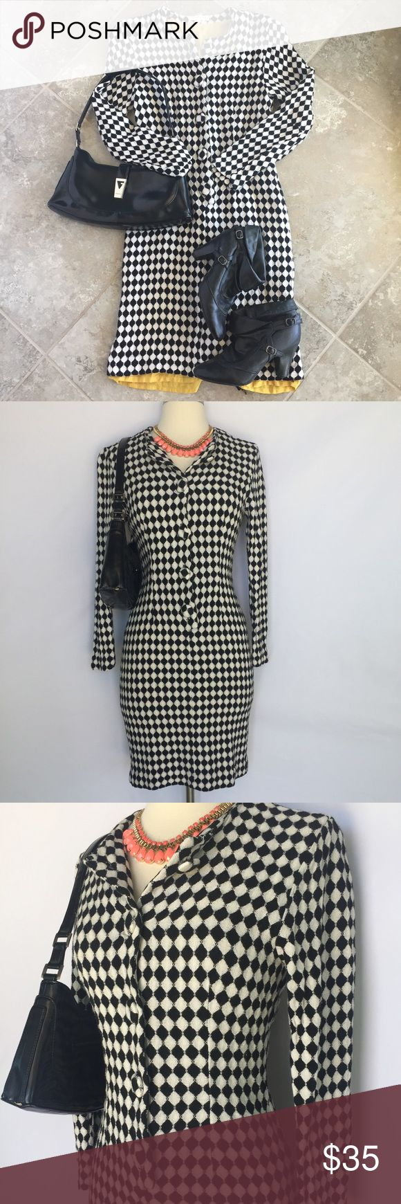 Selling this Vintage Ann Taylor black and white checkered dress on Poshmark! My username is: prairiechic24. #shopmycloset #poshmark #fashion #shopping #style #forsale #Ann Taylor #Dresses & Skirts