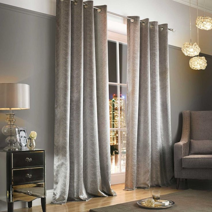 Gorgeous, luxurious designer Kylie Minogue Adelphi Mist Curtains, in sumptuous velvet, brought out with the Kylie Minogue at Home bedding range in mind!!