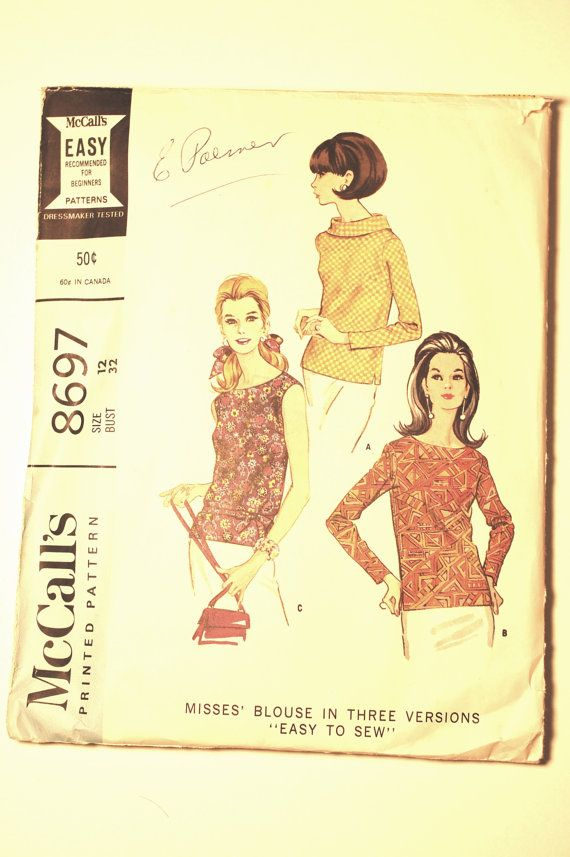 1967 Vintage dressmaking pattern McCall's Misses by SewSymple