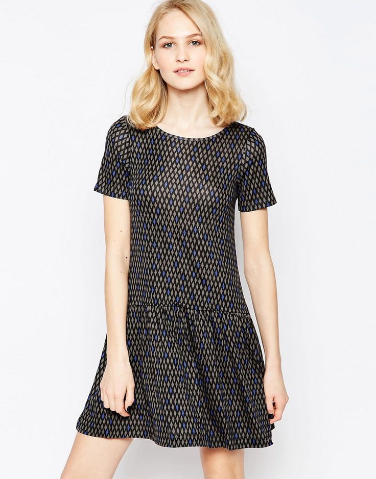 French Connection Winter Diamond Drop Waist Dress