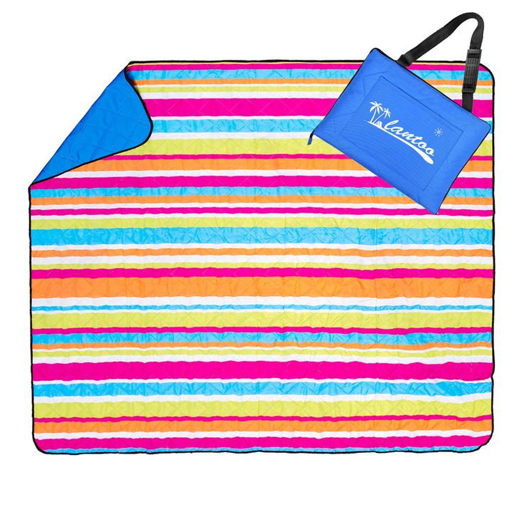 """Extra Large Picnic Blanket & Outdoor Blanket, Lantoo 79""""x79"""" Foldable Camping/Beach/Picnic Mat, Waterproof Machine Washable W/ Zipper Tote Strap Storage Pocket for Beach Hiking Grass Travel. 【EXTRA LARGE PICNIC BLANKET FOR THE WHOLE FAMILY】: 79""""x79"""" extra large size, can fit up to six adults comfortably. Excellent choice for any outdoor activities--beach, hiking, camping, grass travel ect. 【COMPLETELY WATERPROOF AND SAND PROOF】: This outdoor picnic blanket is made up of 3-layers. Surface…"""