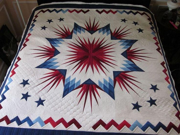 Patriotic quilt is done