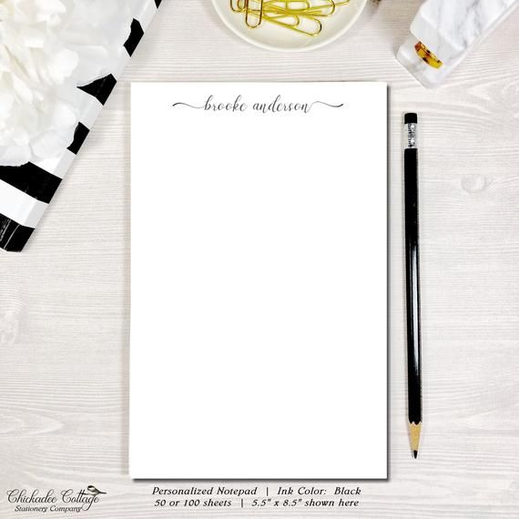 Custom Stationary Personalized Notepad Memo Pad To Do List