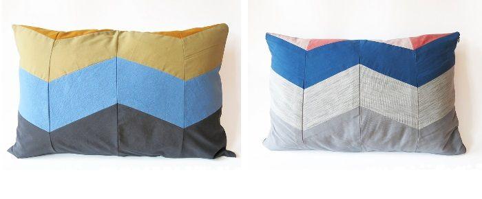 DIY: Chevron Kissen nähen von DIY Sewing Academy und KSIA - DaWanda Blog
