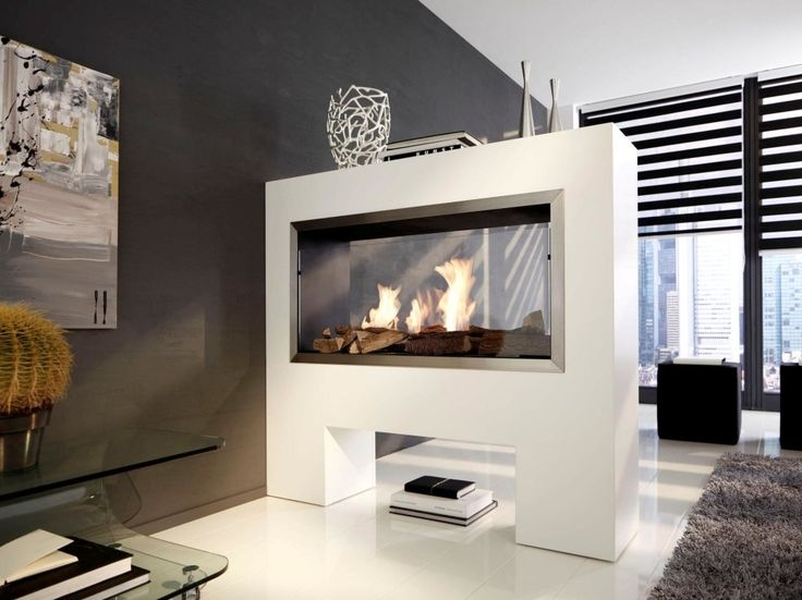 Indoor gas fireplace and Modern fireplaces