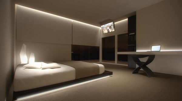 Bedroom with private area by Oporski Architektura