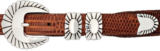 This Belt Buckle Set is handcrafted in Sterling Silver. Designed by Alexander…