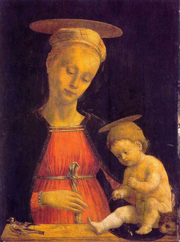 Madonna and Child (and kitten) | 1500 century | Cosimo de Tura ------ Philadelphia Museum of Art