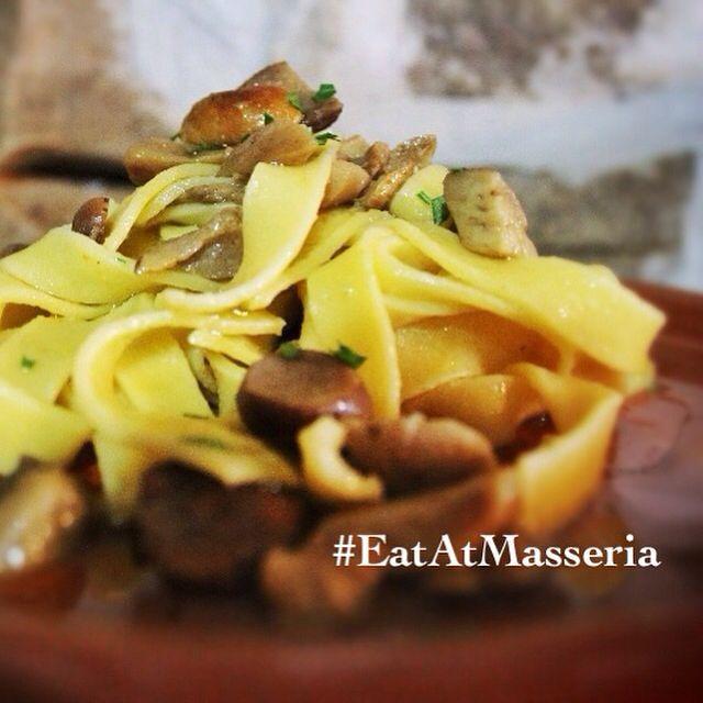 Tagliatelle ai funghi porcini ******** homemade pasta  with porcini mushrooms #eatatmasseria #masseria #altomolise #molise #destinazionemolise