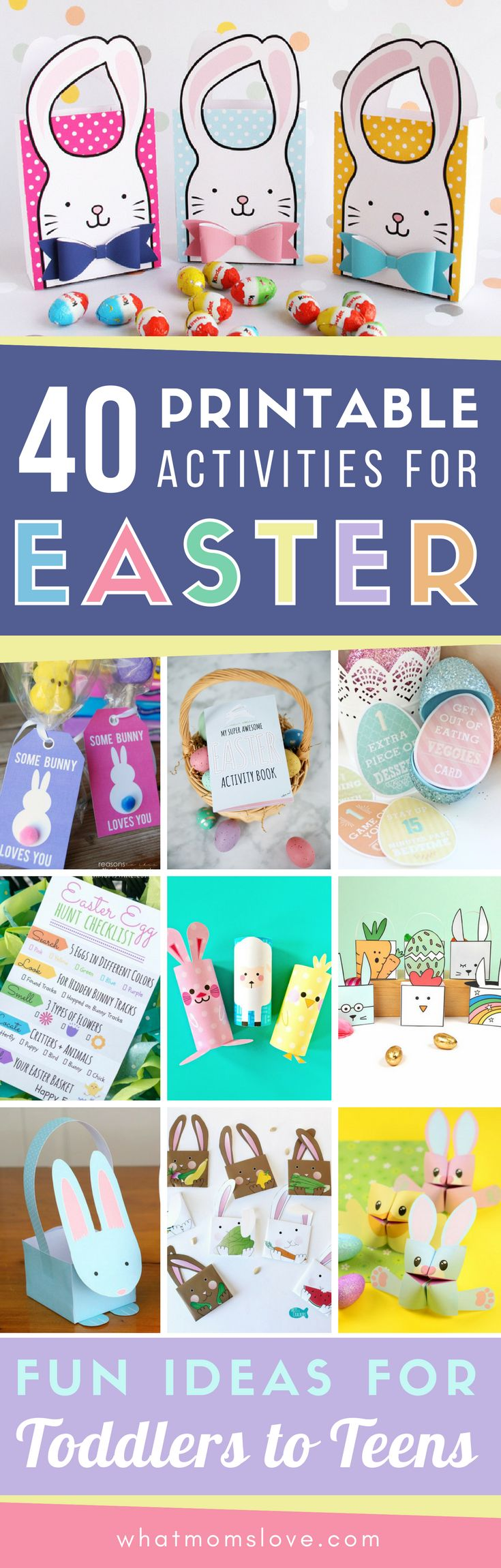 Simplify your Easter activities with these incredible printables full of fun and easy crafts, activities, scavenger hunts, gift tags, coloring pages, egg stuffers and more! These printable DIY Easter activities can be used at home or in the classroom for kids of all ages.