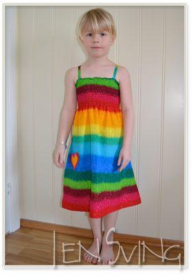 Vaffelsøm kjole til barn