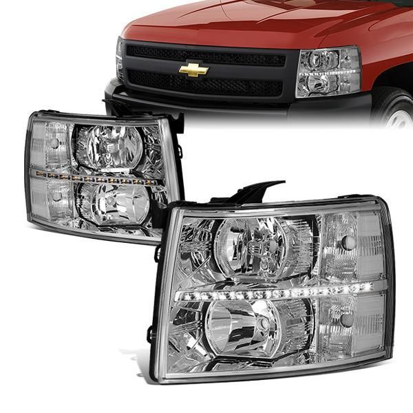 97 05 Buick Park Avenue Headlights Smoked Housing Clear Corner Chevy Silverado Silverado Headlights Headlights