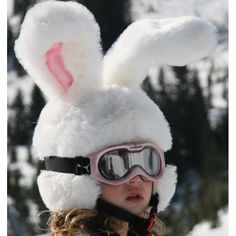 Could totally see Lulu with this look! Headztrong Ski Helmet Covers