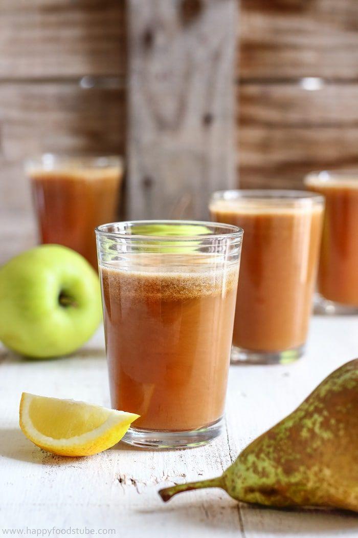 Cloudy Apple Pear Juice Recipe. Easy juicing recipe ideas.
