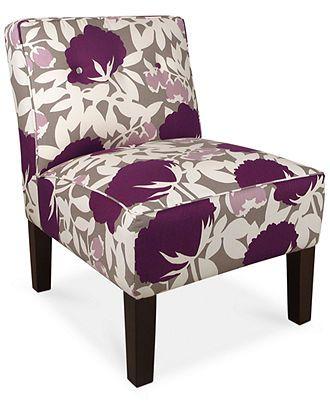 Calabasas Fabric Accent Chair Peony Plum X