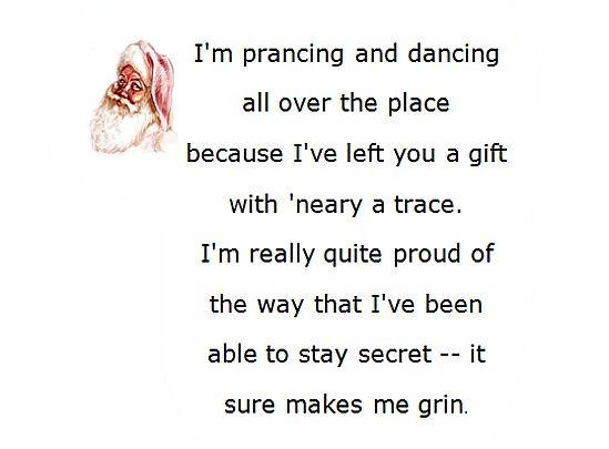 Secret Santa Poems Clever Sayings Secret Santa