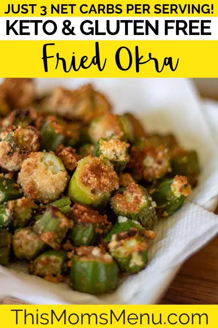 Low Carb Fried Okra Recipe in 2020 Okra, Keto side