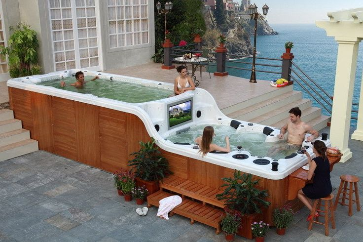 Lap Pool Spa Tv Bar Combo Not Necessary But Pinterest