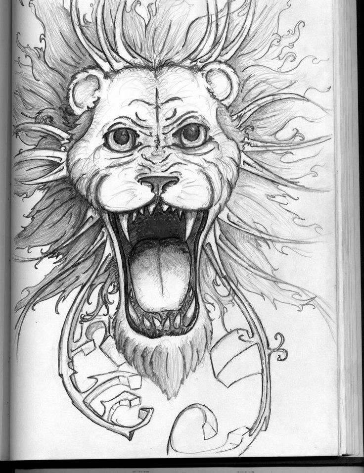 Lion with dreads tattoo drawings - photo#29