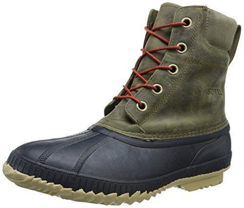 Sorel Men's Cheyanne Lace Full Grain Cold Weather Boot, Sage/Sanguine, 12 M US