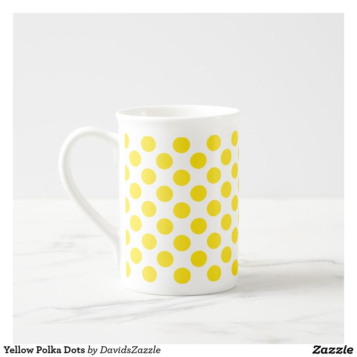 Lovely Yellow Polka Dots Tea Mug Available on many products Hit the uavailable on u