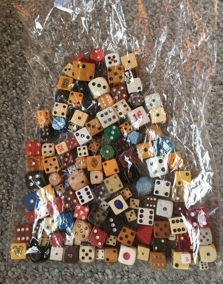 Vintage Casino Dice Collection Bone, Bakelite, Celluloid,Wood,20 Side, Assorted