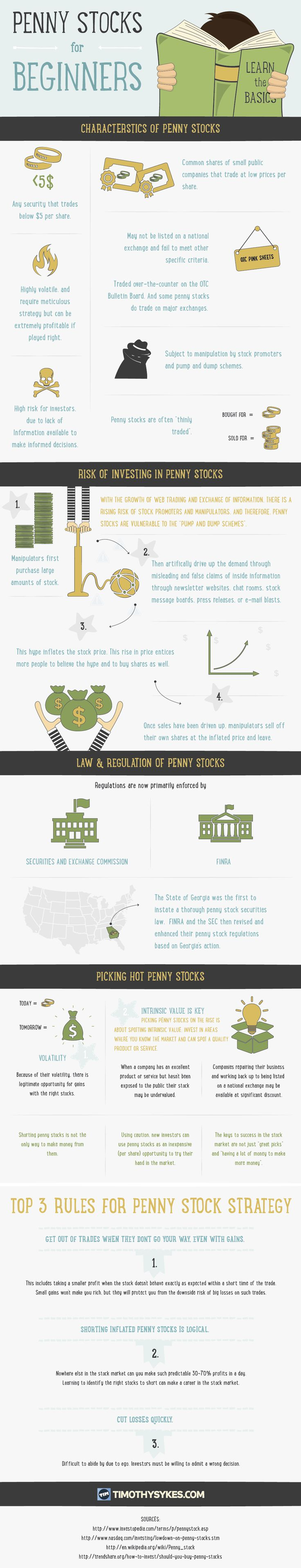This infographic provides a background on penny stocks and the risks and opportunities involved.